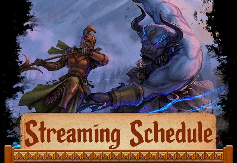 Streaming Schedule for The Gods War Prospective Backers
